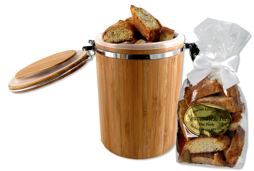 Bamboo Container with Biscotti